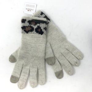 NWT Coach Rabbit Hair Leopard Gloves